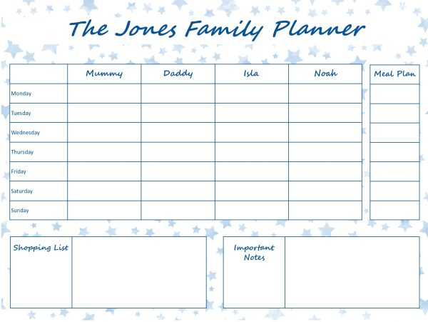 Mummy Planner Designs - blue stars