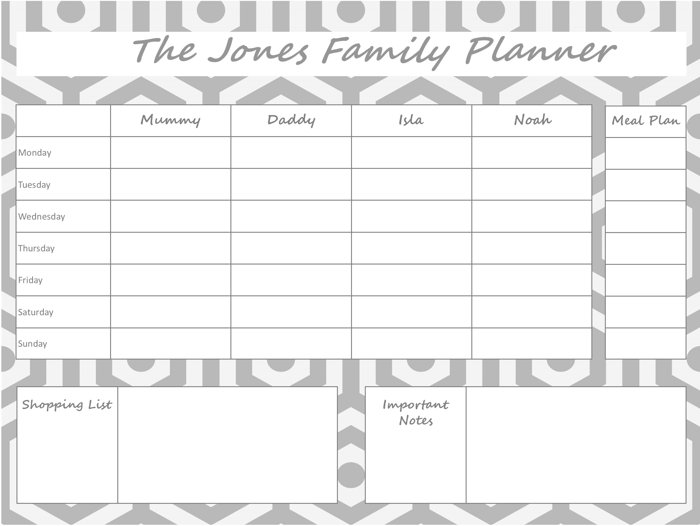 Mummy Planner Designs - geo shape