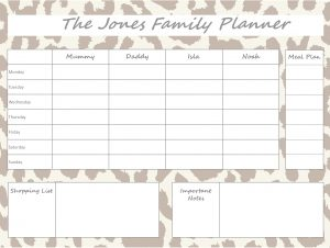 Mummy Planner Designs - leopard brown