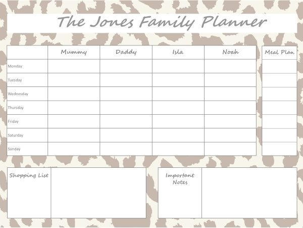 Mummy Planner Designs - leopard brown