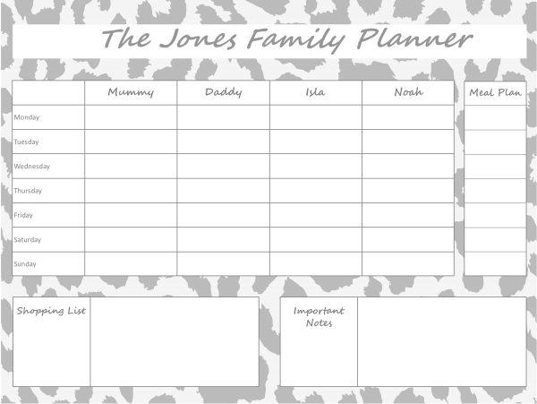 Mummy Planner Designs - leopard grey