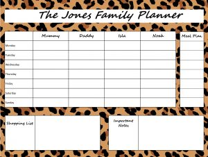 Mummy Planner Designs - loud leopard
