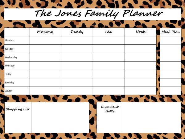 Mummy Planner Designs - loud leopard