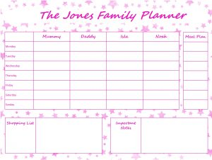 Mummy Planner Designs - pink stars
