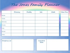 Mummy Planner Designs - rainbow days