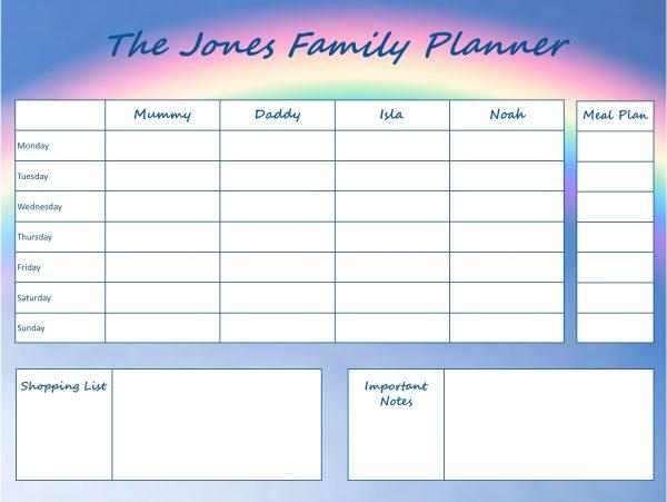 Mummy Planner Designs - rainbow days