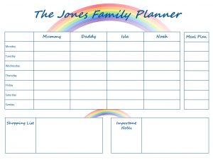 Mummy Planner Designs - rainbow life