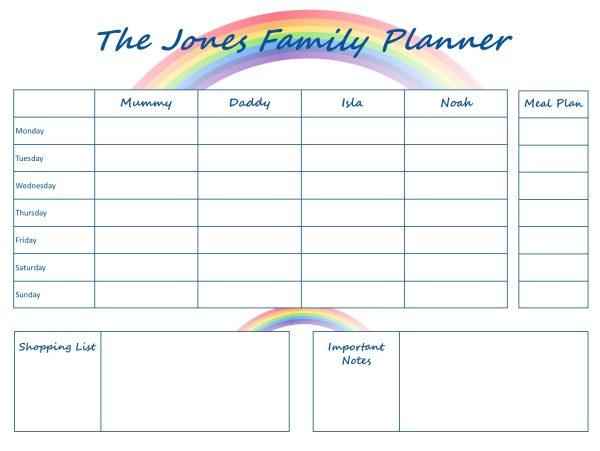Mummy Planner Designs - rainbow life